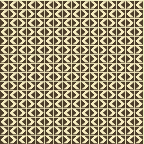 Dim Sum Chevrons - Cream on Soy Brown fabric by rhondadesigns on Spoonflower - custom fabric