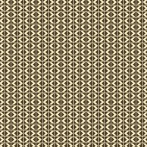 Dim Sum Chevron Darts - Cream on Soy Brown