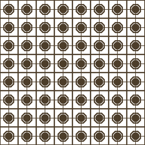 Dim Sum Screen -Brown Soy on White Rice fabric by rhondadesigns on Spoonflower - custom fabric