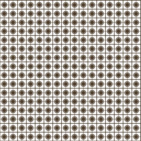 Dim Sum Screen -Brown Soy on White Rice fabric by rhondadesigns on Spoonflower - custom fabric
