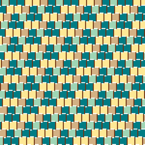 Pixel Bookshelf (Blue) fabric by theonekierce on Spoonflower - custom fabric
