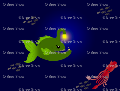 Large Green Anglerfish
