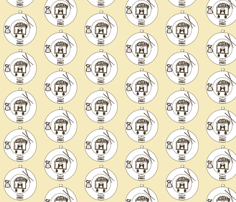 Yum Yum Dim Sum fabric by dejachic on Spoonflower - custom fabric