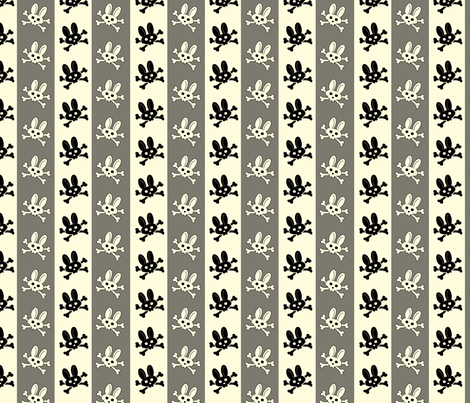 BunnyGothPinStripe_Large fabric by voodoorabbit on Spoonflower - custom fabric
