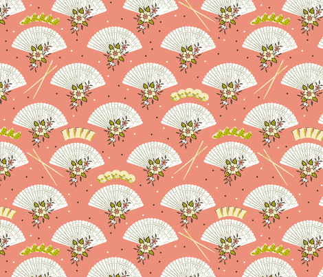 Dim sum geisha fabric by fantazya on Spoonflower - custom fabric