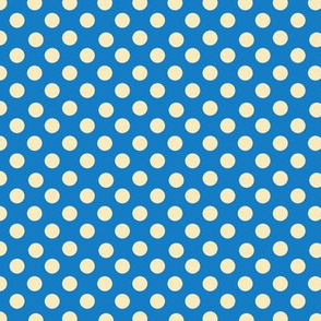 Dino Dots, blue and yellow