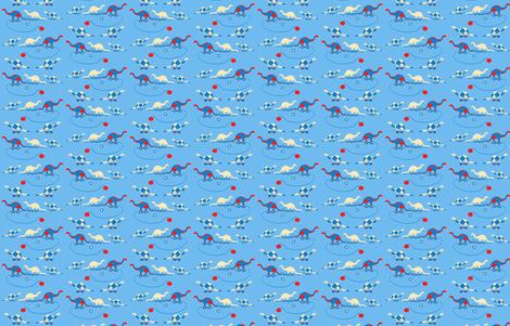My_favorite_Dinosaur_Pull_Toy_edited-1 fabric by karenharveycox on Spoonflower - custom fabric
