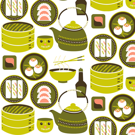 Dim Sum fabric by theboutiquestudio on Spoonflower - custom fabric