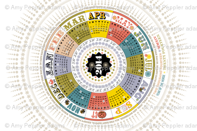 2014 Circle Tea Towel Calendar