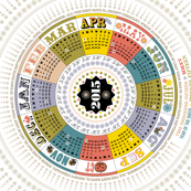 2015 Circle Tea Towel Calendar