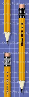 No. 2 Pencil* (Shadow) || writing drawing school office supplies graph paper geek nerd math science