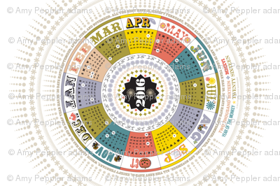 2016 Circle Tea Towel Calendar