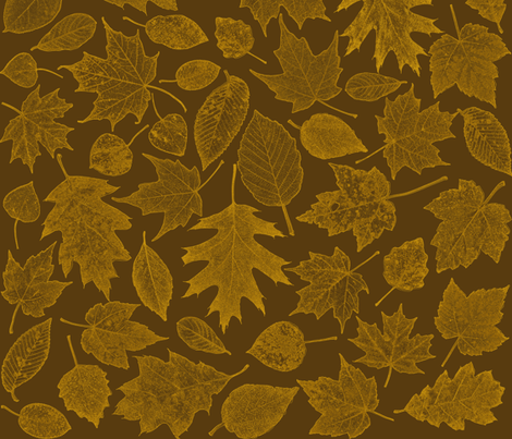 golden leaf etchings fabric by weavingmajor on Spoonflower - custom fabric