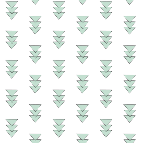 mint triple triangle repeat fabric by coramaedesign on Spoonflower - custom fabric