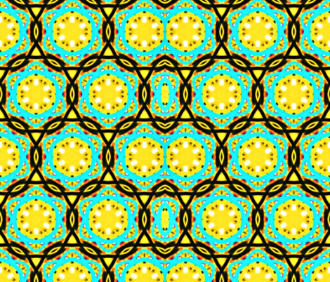 yellow geo fabric by ann-dee on Spoonflower - custom fabric