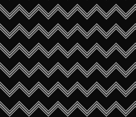 Black and White Chevron © Gingezel™