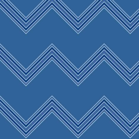 Wide Blue Chevron