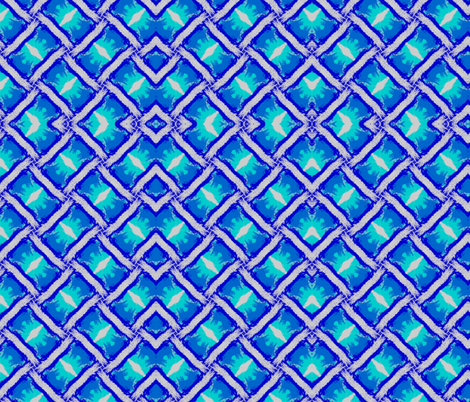 blue cross-stitched fabric by ann-dee on Spoonflower - custom fabric