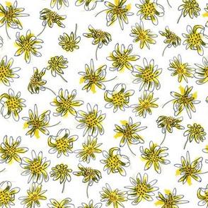 Manx Flora - Scruffy Yellow