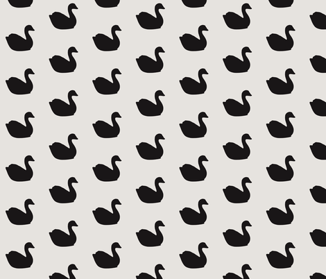 Baby black swans on soap stone fabric by ninaribena on Spoonflower - custom fabric
