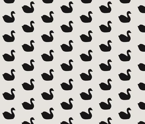 Baby black swans on soap stone fabric by ninaribena on Spoonflower - custom fabric