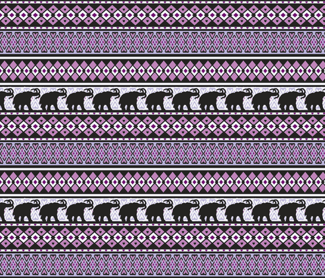 Fairisle Purple Woolly Mammoth fabric by lovekittypink on Spoonflower - custom fabric