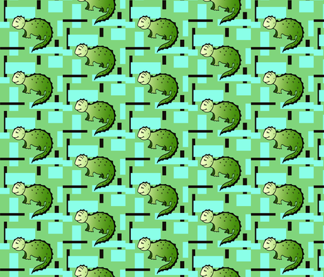 Dinosaurus Geometric fabric by lenikae on Spoonflower - custom fabric