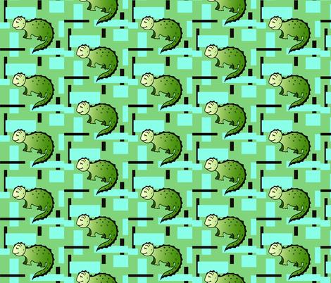 Dinosaurus Geometric fabric by lenikae on Spoonflower - custom fabric
