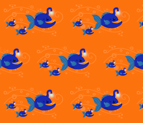 Anglerfish Family Outing fabric by angelcallie on Spoonflower - custom fabric