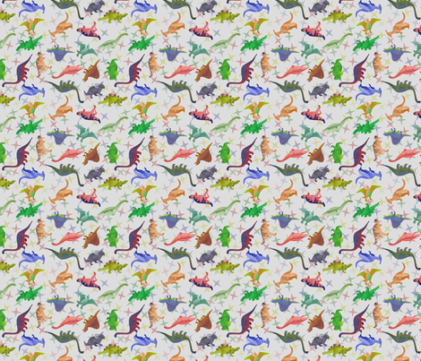 ditsy_dinos fabric by roxiespeople on Spoonflower - custom fabric