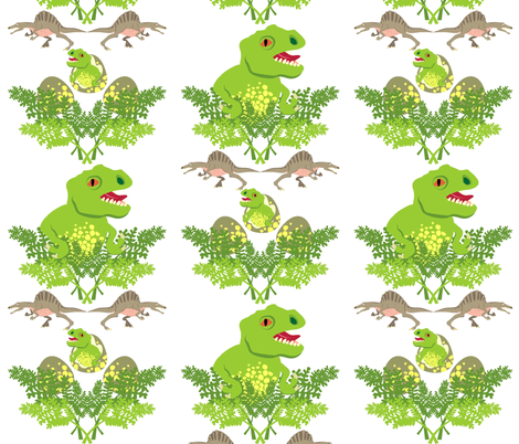 dinosaur damask fabric by moirarae on Spoonflower - custom fabric