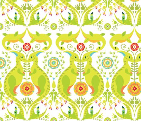 Dinoflorus fabric by elodie-lauret on Spoonflower - custom fabric