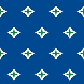 Diamond Star- navy and emerald