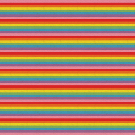 Tiny Retro Rainbow Stripe