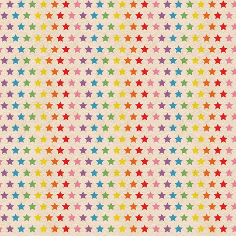 Tiny Retro Rainbow Stars