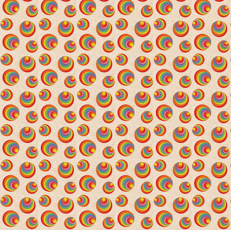 Retro Rainbow Swirls 1