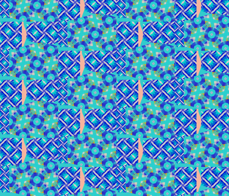 bluest collage fabric by ann-dee on Spoonflower - custom fabric