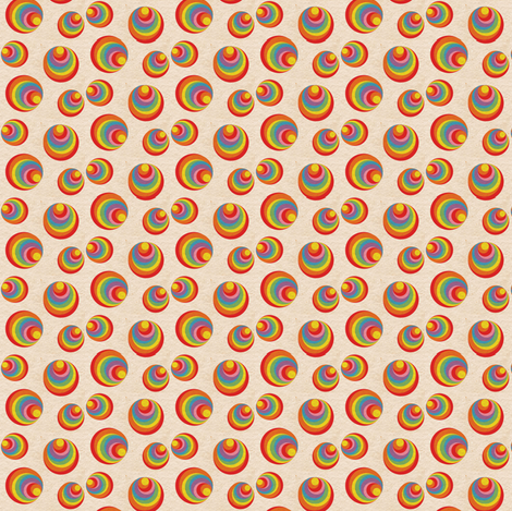 Retro Rainbow Swirls 2