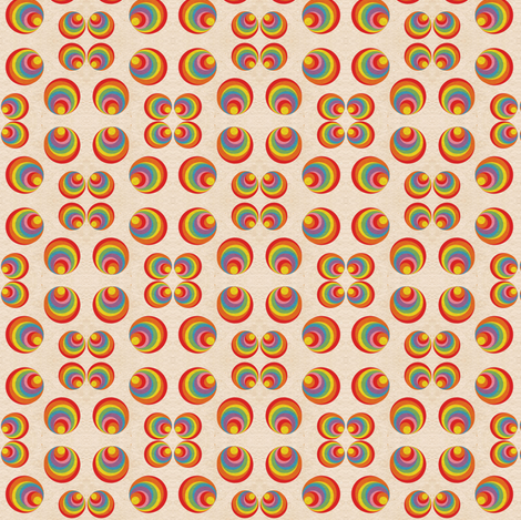 Retro Rainbow Swirls 3