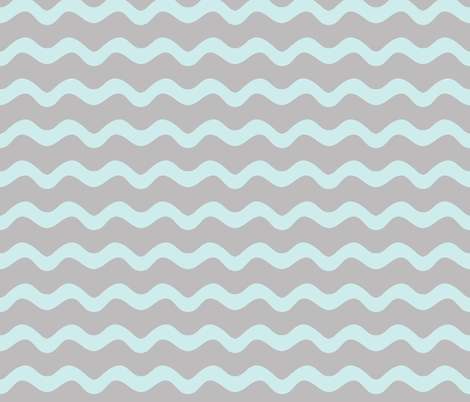 Stormy Sea Stripe (lt. aqua + gull grey) fabric by pattyryboltdesigns on Spoonflower - custom fabric
