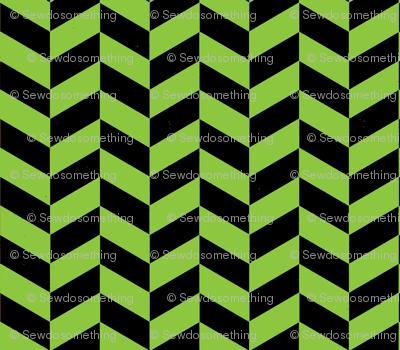 Black and Green Chevron