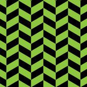 Black and Green Chevron