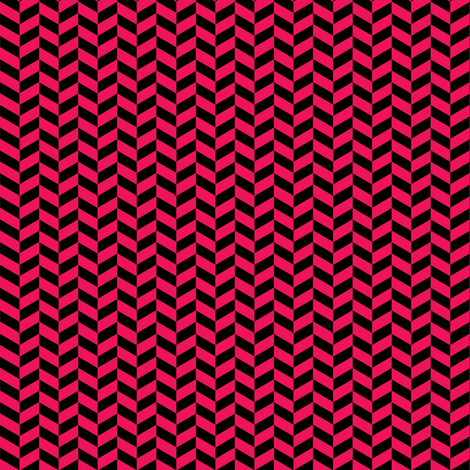 Black and Hot Pink Chevron fabric by sewdosomething on Spoonflower - custom fabric