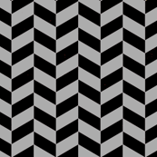 Black and Gray Chevron