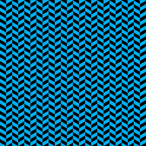 Black and Blue Chevron fabric by sewdosomething on Spoonflower - custom fabric