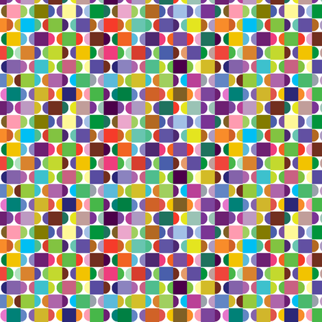 Coloured squares and circles fabric by linsart on Spoonflower - custom fabric