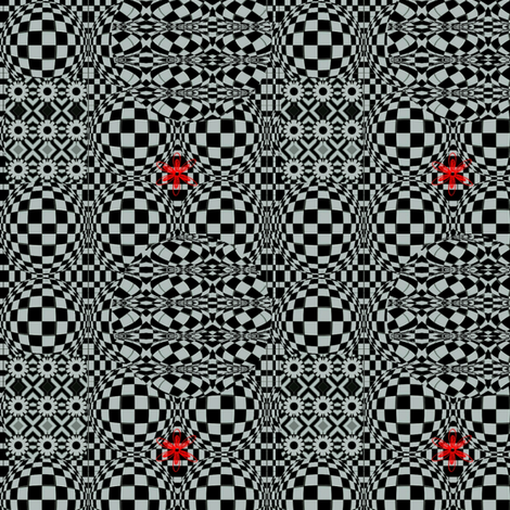 Graphic In Black And White fabric by charldia on Spoonflower - custom fabric
