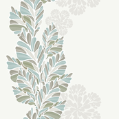 Decor With Leaves Vertical Pattern