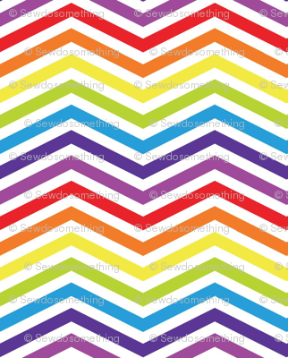 Tiny Rainbow Chevron