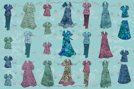 Batik Fashions - large - lt-aqua fabric by mina on Spoonflower - custom fabric